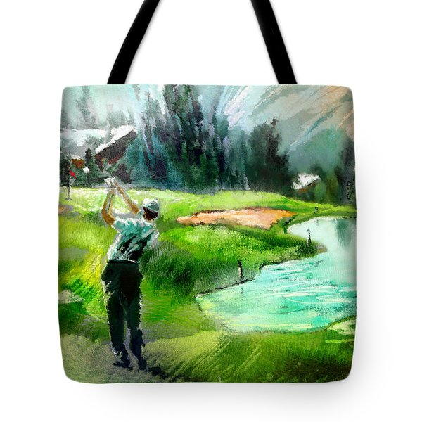 Golf In Crans Sur Sierre Switzerland 01 Tote Bag