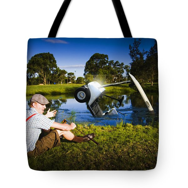Tote Bag featuring the photograph Golf Problem by Jorgo Photography - Wall Art Gallery