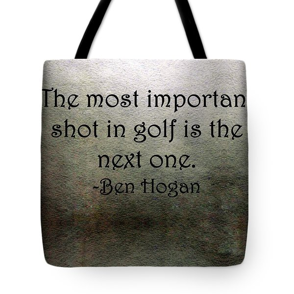 Golf Quote Tote Bag