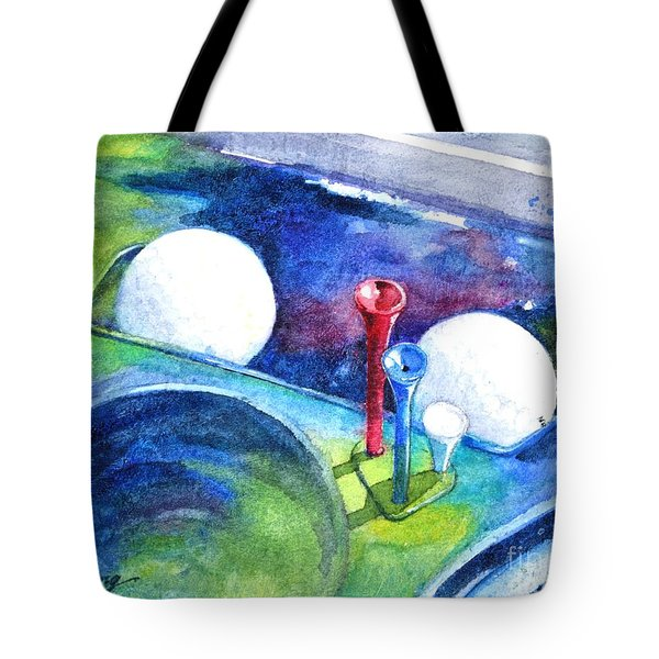 Golf Series - Back Safely Tote Bag by Betty M M Wong