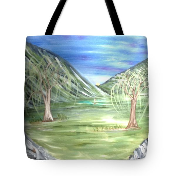 Golfing In Glacier Tote Bag
