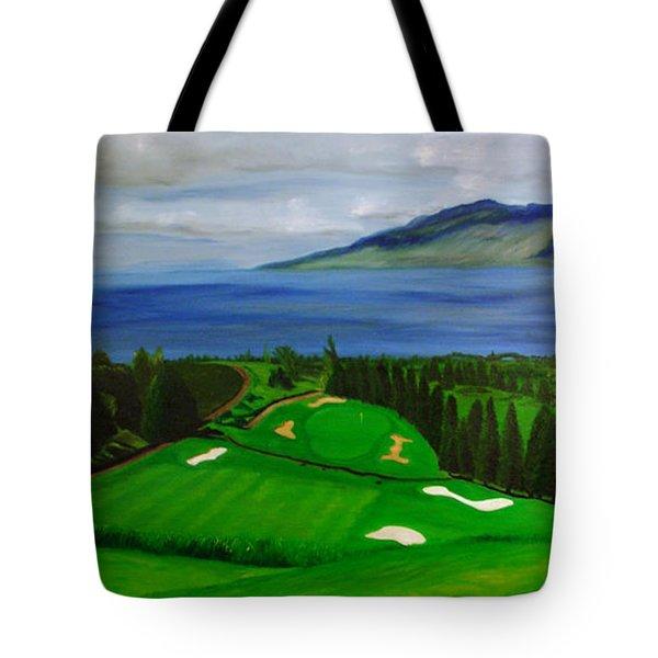 Golfing In Maui Tote Bag