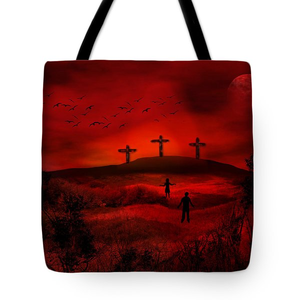 Golgotha Tote Bag by Bernd Hau