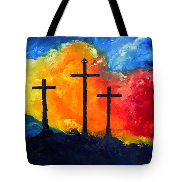 Golgotha Tote Bag by David McGhee