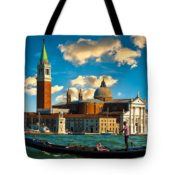 Gondola And San Giorgio Maggiore Tote Bag