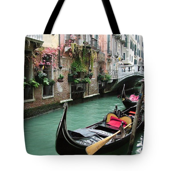 Gondola By The Restaurant Tote Bag