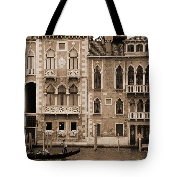 Gondola Crossing Grand Canal Tote Bag