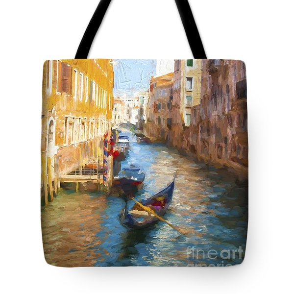 Gondola E Campanile Tote Bag by Jack Torcello