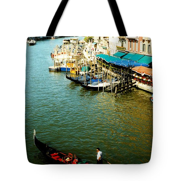 Gondola In Venice Italy Tote Bag by Michelle Calkins