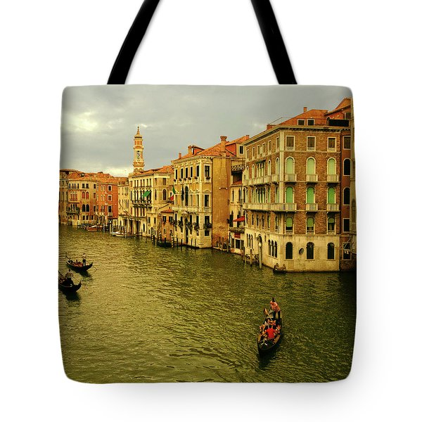 Tote Bag featuring the photograph Gondola Life by Anne Kotan