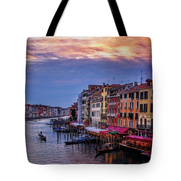 Tote Bag featuring the photograph Gondola On The Grand Canal by Andrew Soundarajan