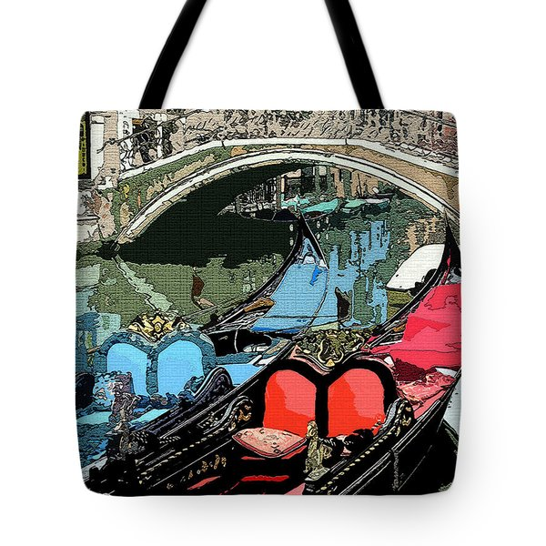 Gondolas Fresco  Tote Bag