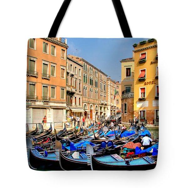 Gondolas In The Square Tote Bag