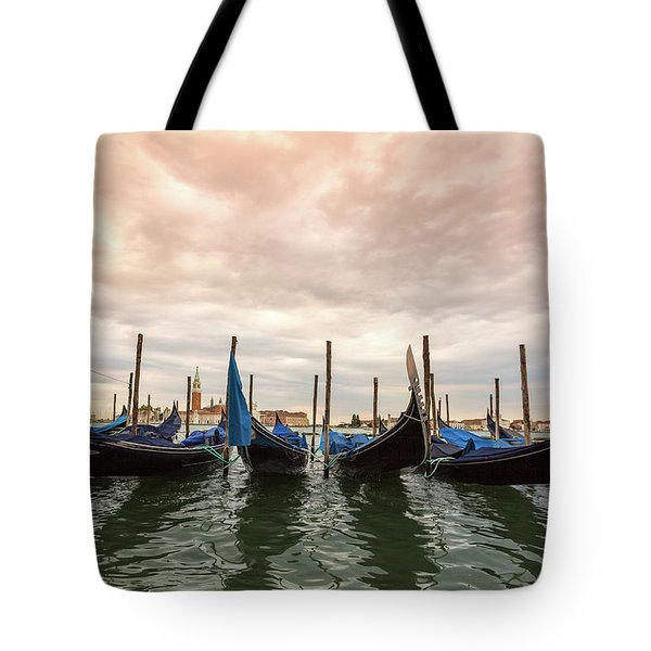 Gondolas In Venice Tote Bag by Melanie Alexandra Price