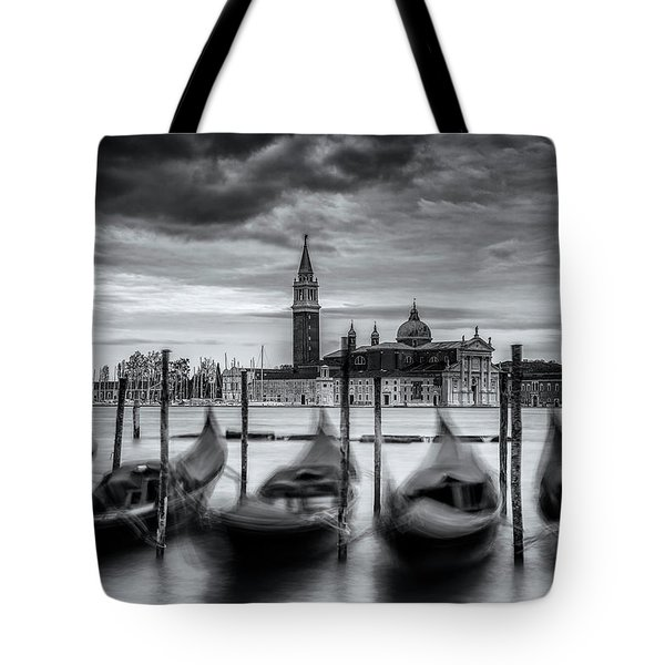 Tote Bag featuring the photograph Gondolas Of Venice by Andrew Soundarajan