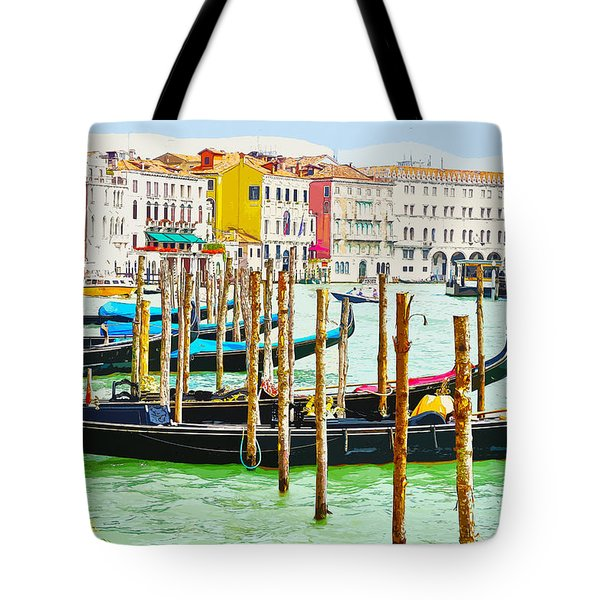 Gondolas On The Grand Canal Venice Italy Tote Bag