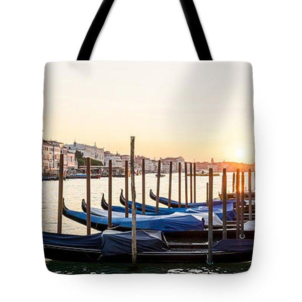 Gondolas Sunrise 00323 Tote Bag