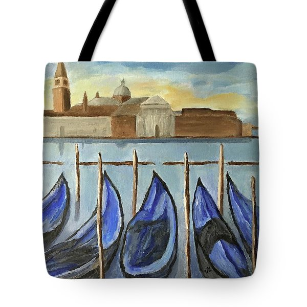 Gondolas Tote Bag by Victoria Lakes