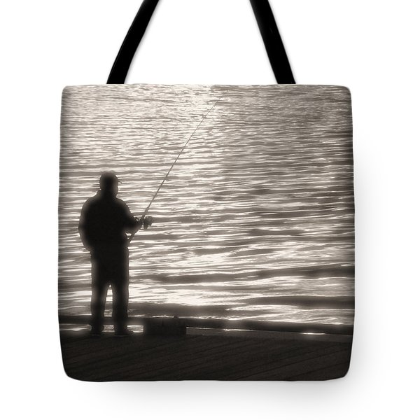 Tote Bag featuring the photograph Gone Fishing by Mark Alan Perry