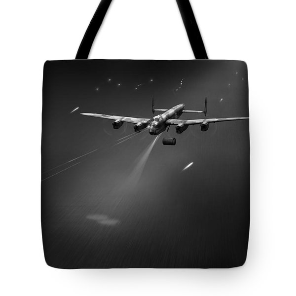 Tote Bag featuring the photograph Goner From Dambuster J-johnny Bw Version by Gary Eason
