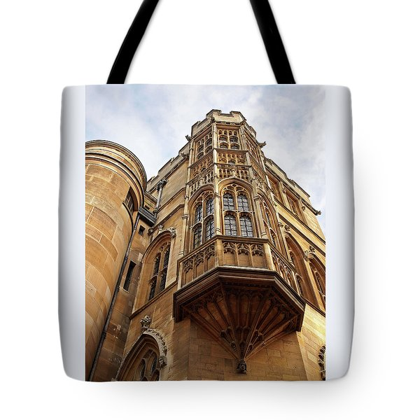 Tote Bag featuring the photograph Gonville And Caius College Library Cambridge by Gill Billington