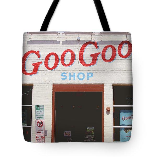 Tote Bag featuring the photograph Goo Goo Shop- Photography By Linda Woods by Linda Woods