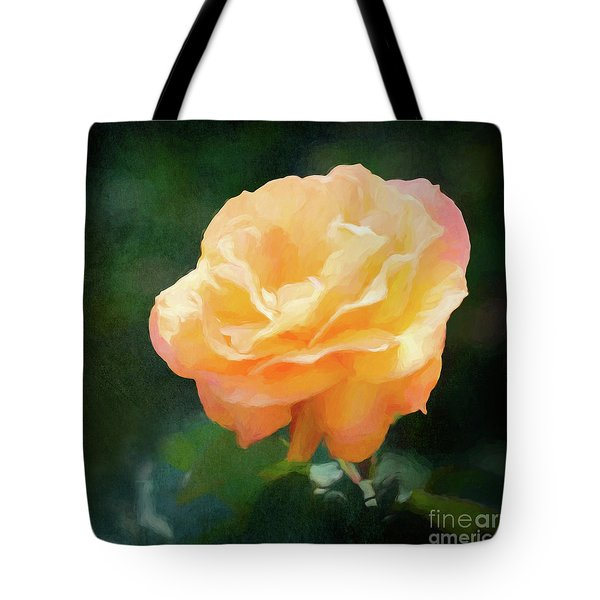 Good As Gold Painted Rose Tote Bag