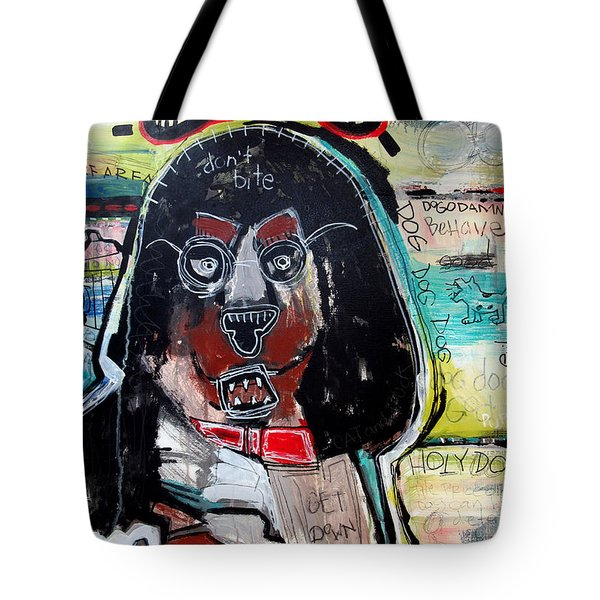 Tote Bag featuring the painting Good Dog by Rick Baldwin