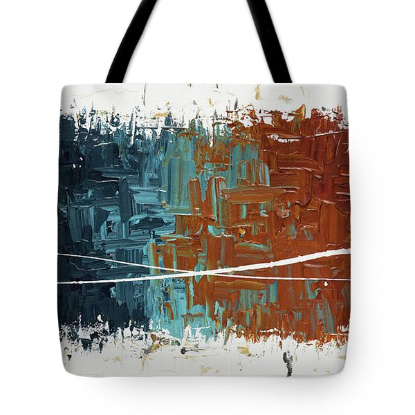 Tote Bag featuring the painting Good Feeling - Abstract Art by Carmen Guedez