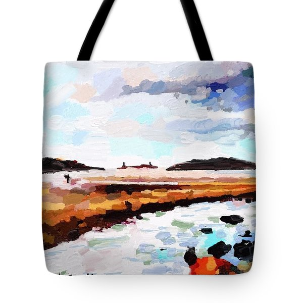 Good Harbor Beach, Salt Island, And Thatcher's Island Tote Bag