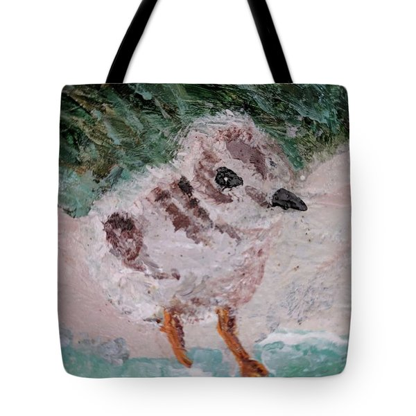Good Harbor Piping Plover Chick #1 Tote Bag