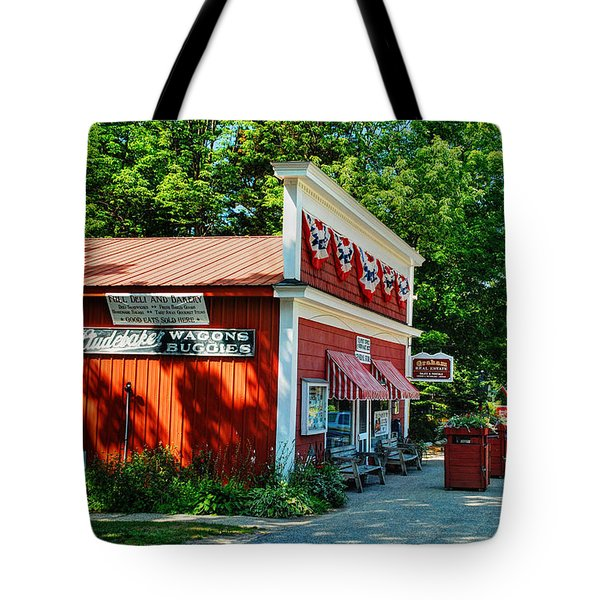 Good Hart General Store Tote Bag by Janice Adomeit