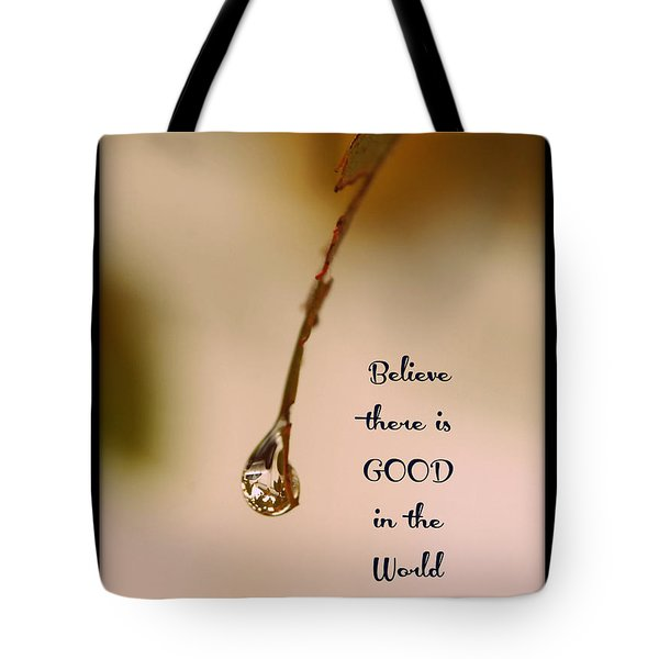 Tote Bag featuring the mixed media Good In The World by Trish Tritz