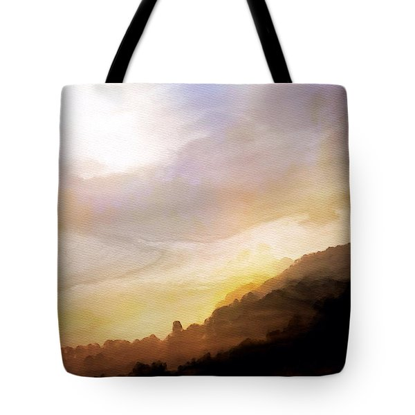 Tote Bag featuring the painting Good Morning by Mark Taylor