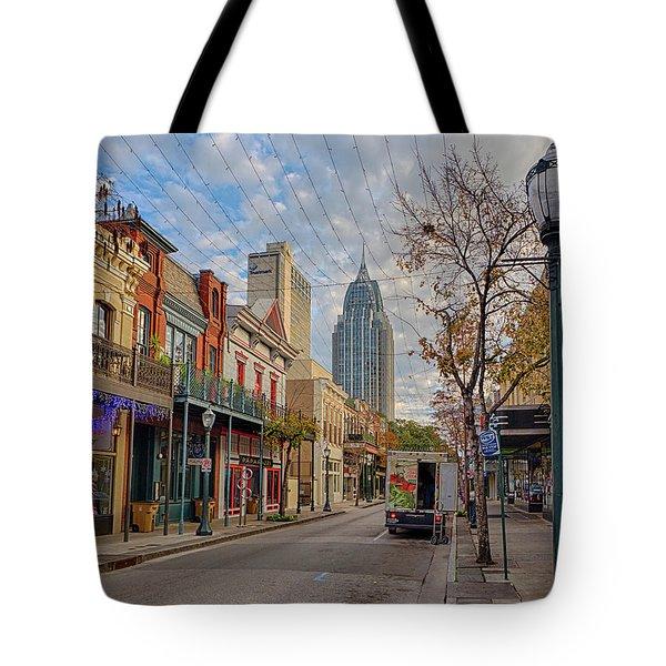 Good Morning Mobile Tote Bag