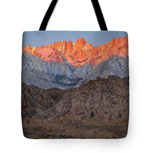 Good Morning Mount Whitney Tote Bag