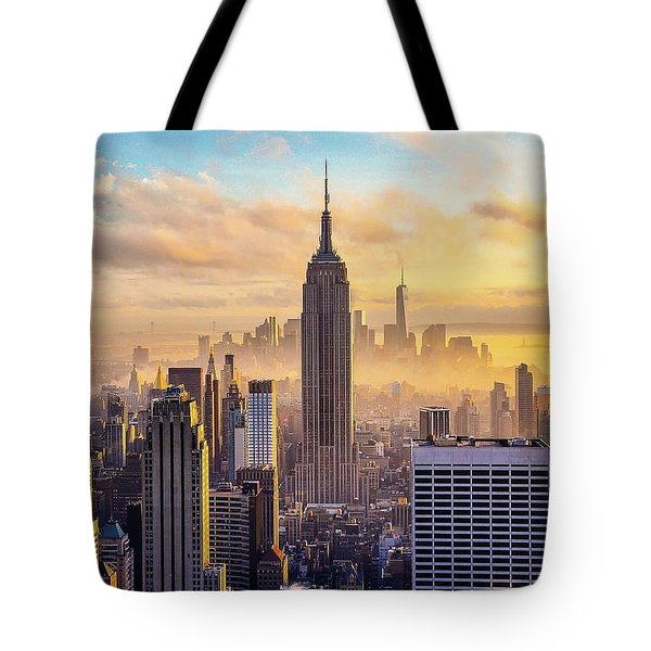 Good Morning New York Tote Bag