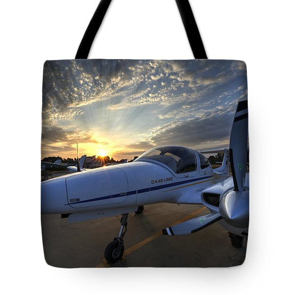 Good Morning On The Ramp Tote Bag