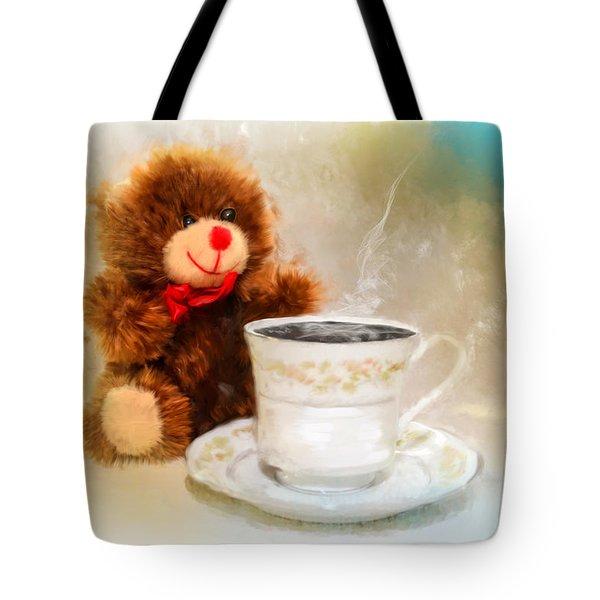Good Morning Teddy Tote Bag