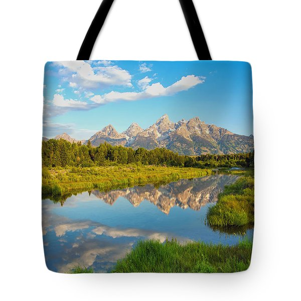 Good Morning Tetons Tote Bag
