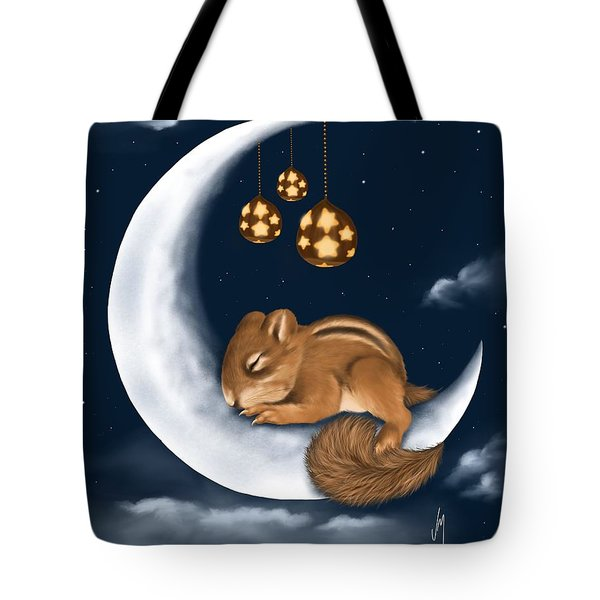 Tote Bag featuring the painting Good Night by Veronica Minozzi