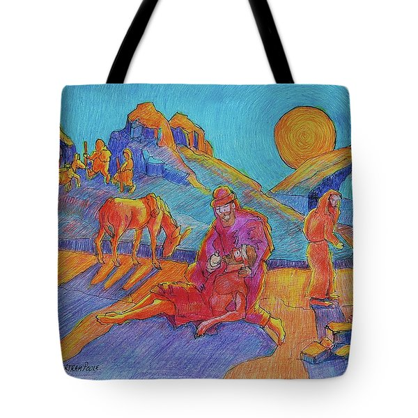 Good Samaritan Parable Painting Bertram Poole Tote Bag by Thomas Bertram POOLE