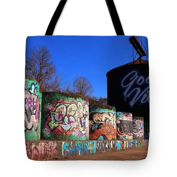 Good Vibes Asheville North Carolina Tote Bag