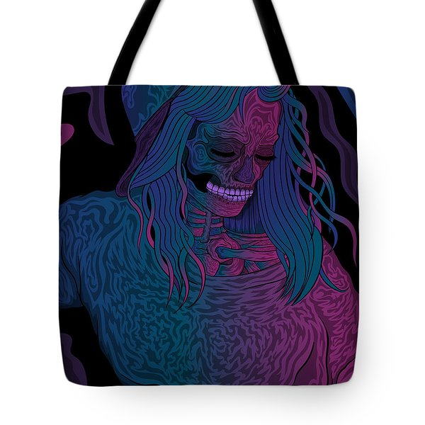 Good Vibes Skelegirl Tote Bag