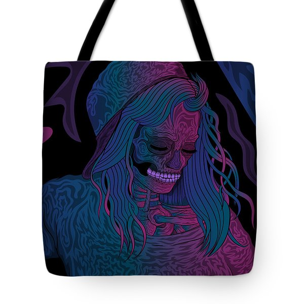 Good Vibes Skelegirl Tote Bag