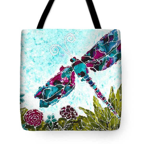 Tote Bag featuring the painting Good Vibrations II by Kathryn Riley Parker