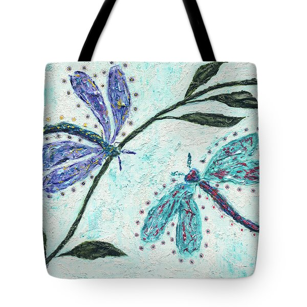 Tote Bag featuring the painting Good Vibrations by Kathryn Riley Parker
