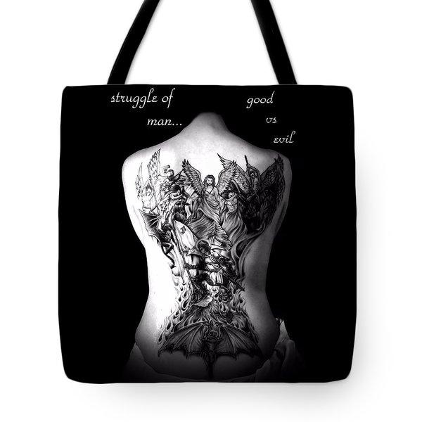 Good Vs Evil Tote Bag