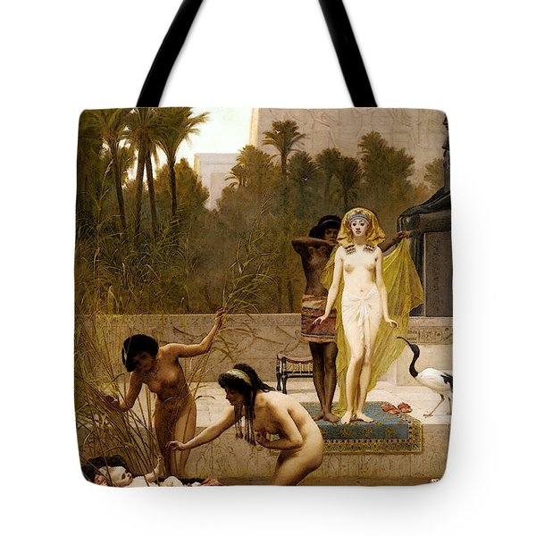 Goodall Frederik The Finding Of Moses Tote Bag by Frederick Goodall