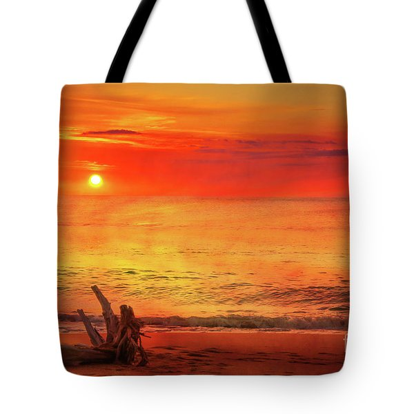 Tote Bag featuring the digital art Goodbye Day by Randy Steele